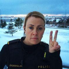 Intervention: Nice Cops. Cops Love Us. (Reykjavik Police on Instagram)