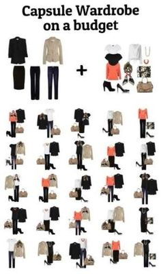 Capsule Wardrobe on a budget #capsule wardrobe by charity