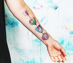 Abstract Flowers Tattoo by Bumpkin Tattoo | Tattoo No. 13243