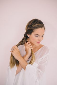 Twisted Side Braid Tutorial - combining braids into one side braid