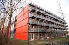 amsterdam housing made from shipping containers