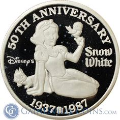 Great Deals On Walt Disneys Snow White 5 oz Silver Gold And Silver Coins, Silver Bars, Silver Bullion, Bullion Coins, 50th Anniversary, Walt Disney, Really Cool Stuff, Snow White, Brothers Grimm
