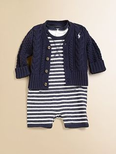 Ralph Lauren - Infant's Striped Two-Piece Shortall Set - Saks.com