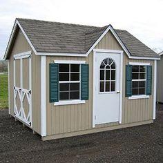 amazoncom little cottage 12 x 10 ft classic wood cottage panelized storage