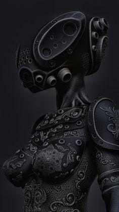Character Concept, Character Art, Concept Art, Cyberpunk, Woman Mechanic, Steampunk Artwork, Combat Armor, 3d Artwork, Black Girl Art