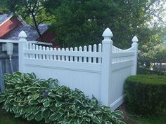 Scalloped Victorian PVC Fencing