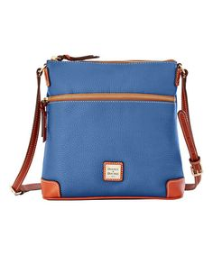 Another great find on #zulily! Dusty Blue Leather Crossbody Bag #zulilyfinds