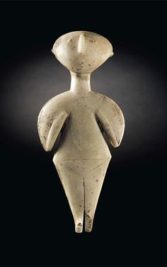 The Guennol Stargazer Marble Idol, Anatolian, ML BCStanding 9 inches cm) high, the Guennol Stargazer is one of the finest and largest preserved Anatolian marble female idols of Kiliya type. Ancient Goddesses, Art Premier, Effigy, Ancient Artifacts, Stargazing, Figurative Art, Art World, Archaeology, Art Lessons