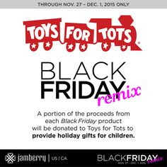 """For 5 days Jamberry is having a """"Get more, give more"""" event for this Black Friday weekend. The more Black Friday Jamberry Remix products you get, the more Jamberry will donate to Toys For Tots to provide holiday gifts for children. You gotta love that. #blackfriday"""