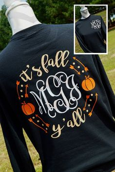Monogram Personalized It's Fall Y'all Womens