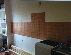 Beginning 1 Tile Floor, Flooring, Kitchen, Crafts, Homemade, Cooking, Wood Flooring, Home Kitchens, Crafting