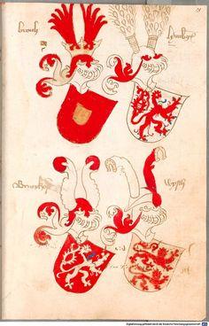Bruderschaftsbuch des jülich-bergischen Hubertusordens Niederrhein, um 1500 Cod.icon. 318  Folio 18r