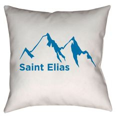 Saint Elias, Alaska Mountain Range Throw Pillow