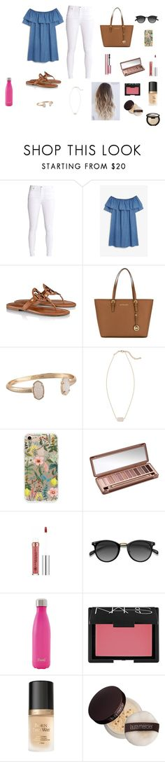 Summer by hannahhomeyer on Polyvore featuring Monki, Tory Burch, MICHAEL Michael Kors, Kendra Scott, Ace, Rifle Paper Co, Too Faced Cosmetics, Urban Decay, NARS Cosmetics and Laura Mercier