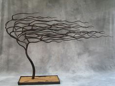 """Stormy Weather"" Hand-forged iron tree by John McDavid"