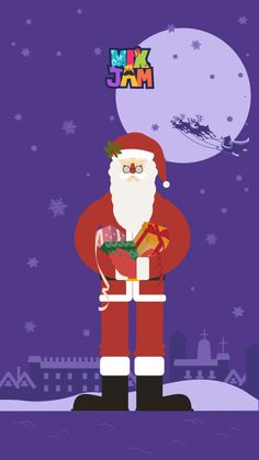 Santa Clause !!! He's the one that makes everyone wait for Christmas Let's behave nicely to get presents from him.