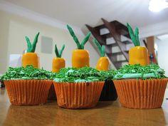 Cupcake de Cenourinhas para Pascoa... Mto amor =)