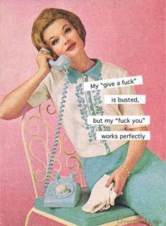 Vintage Funny Quotes, Vintage Humor, Grumpy Cat Humor, Blunt Cards, Retro Humor, Twisted Humor, Nurse Humor, Funny Faces, I Laughed