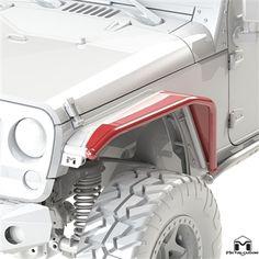 "Jeep Wrangler JK 8"" Overline Front Tube Fender Flare"