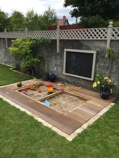 Finished article - sandpit in deck #buildplayhouse