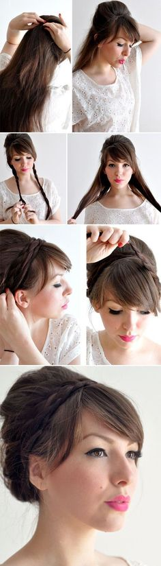 Peinados recogidos con trenzas verano Check out the website to see Pretty Hairstyles, Braided Hairstyles, Wedding Hairstyles, Elegant Hairstyles, Braided Updo, Hair Dos, My Hair, Corte Y Color, Look Girl