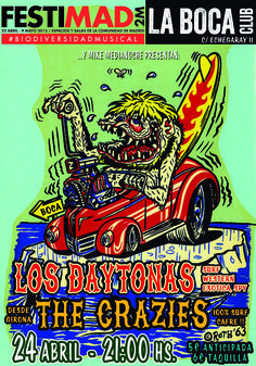 Surf n´Shake Party. Festimad 2015: Los Daytonas   The Crazies  en Madrid