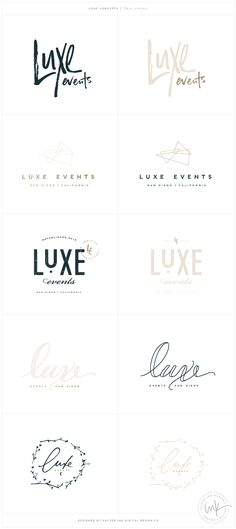 Luxe Events Brand launch - Design by Salted Ink | Logo Concepts | www.saltedink.com | Brand Stylist
