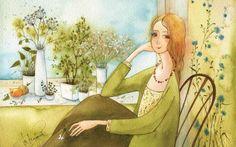 Недавно я познакомилась с творчеством замечательной художницы Виктории Кирдий. Я была просто очарована! На ее чудесные жизнерадостные акварели невозможно смотреть без улыбки. Столько позитива, добра и света в ее работах!... Сама Виктория родом из Иркутска, сейчас живет и творит в Москве. Уже с детства она любила рисовать, не обходя стороной книги, парты, автобусные сиденья и прочую общественную собственность.
