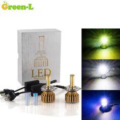1 SET Plug & Play 80W 7200LM H1 H3 H4 H4 H/L H7 H8 H9 H11 9005 9006 HB3 HB4 CREE LED CHIP CAR Fog BULBS HEADLIGHT Lamp 3 Colors