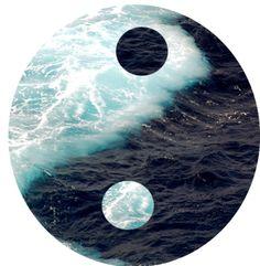 Image Only - Yin yang ocean Arte Yin Yang, Ying Y Yang, Yin Yang Art, Yin Yang Tattoos, Yen Yang, Archangel Gabriel, Beach Signs, Tai Chi, Film
