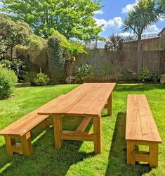 Wooden Outdoor Table, Wooden Garden Table, Wooden Picnic Tables, Outdoor Picnic Tables, Garden Table And Chairs, Patio Table, Wooden Terrace, Oak Table, Garden Seating
