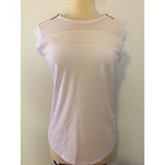 NWT ⚜ Michael KORS White Basic Top Size L New with tags! Michael KORS white basic top with zippers on shoulders, very cute and stylish for day ware or night! Size Large. Michael Kors Tops Tees - Short Sleeve