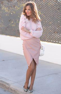 оттенки светло-розового, вязаная мода лето, стиль модные тенденции, женская уличная мода 2016 (фото 11)