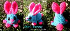 Mini Bunny: Free Crochet Pattern Written Instructions- Actually this site has a lot of free patterns, videos and tutorials