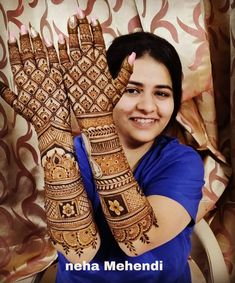 """~Tag your friends who believe in the age old belief of """"the darker the stain of mehendi, the deeper is the essence of his love"""" 💏… Wedding Henna Designs, Indian Henna Designs, Engagement Mehndi Designs, Latest Bridal Mehndi Designs, Legs Mehndi Design, Full Hand Mehndi Designs, Stylish Mehndi Designs, Mehndi Designs 2018, Mehndi Designs For Girls"""