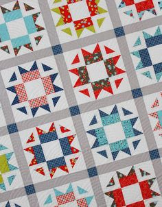 Skipper Quilt Pattern | Craftsy.  A fat quarter pattern that includes   measurements and instructions for   creating four different sizes of quilts (crib, throw, twin, queen).   Pattern includes detailed, easy-to-follow diagrams and instructions for   cutting, block construction and quilt top assembly.  Modern quilt   pattern.  Affiliate link.