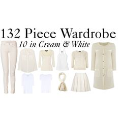 """""""10 in Cream & White"""" by charlotte-mcfarlane on Polyvore"""