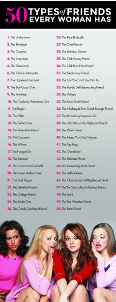 50 friends every girl has (..or knows)