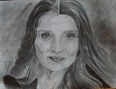 Retrato de la actriz Ángela Molina. Por Nieves Bosquet