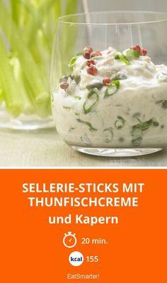 Sellerie-Sticks mit Thunfischcreme - und Kapern - smarter - Kalorien: 155 Kcal - Zeit: 20 Min. | eatsmarter.de