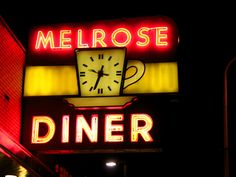 Melrose Diner.  Like the little coffee cup clock.
