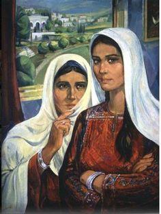 Esma'el shamoot / palestine Palestine History, Palestine Art, Arabian Beauty, Historical Art, Retro Outfits, Mona Lisa, Creative Art, Folk Art, Egypt