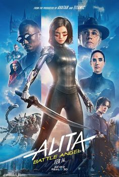 Trailers, TV spots, clips, featurette, images and posters for the sci-fi action film ALITA: BATTLE ANGEL starring Rosa Salazar and Christoph Waltz. Christoph Waltz, Mahershala Ali, Jennifer Connelly, Movies 2019, Sci Fi Movies, Action Movies, Hd Movies, Battle Angel Alita Movie, Ep Logo