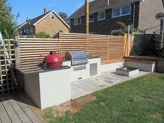 Design Outdoors Outdoor Kitchens and BBQ Areas Outdoor Bbq Kitchen, Outdoor Cooking Area, Backyard Kitchen, Modern Backyard, Outdoor Kitchen Design, Outdoor Kitchens, Outdoor Barbeque Area, Outdoor Oven, Outdoor Areas