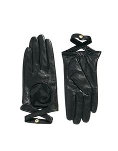 ASOS Leather Wrap Detail Gloves