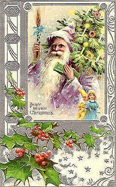 vintage postcard  Santa