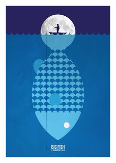 Big Fish by Javier Vera Lainez, via Behance