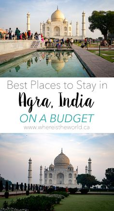 Where you stay in Agra can have a huge impact on your visit to the Taj Mahal. Don't miss out, choose one of the best places to stay in Agra on a budget! India Travel Guide, Asia Travel, Travel Couple, Family Travel, Dubai Skyscraper, Visit India, Beautiful Places To Visit, Culture Travel, Outdoor Travel