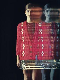 Tilda Lindstam by Andreas Sjodin for Elle France December 2014