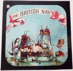 THE BRITISH NAVY - BOX SET OF ANTIQUE MAGIC LANTERN SLIDES - DEATH OF NELSON